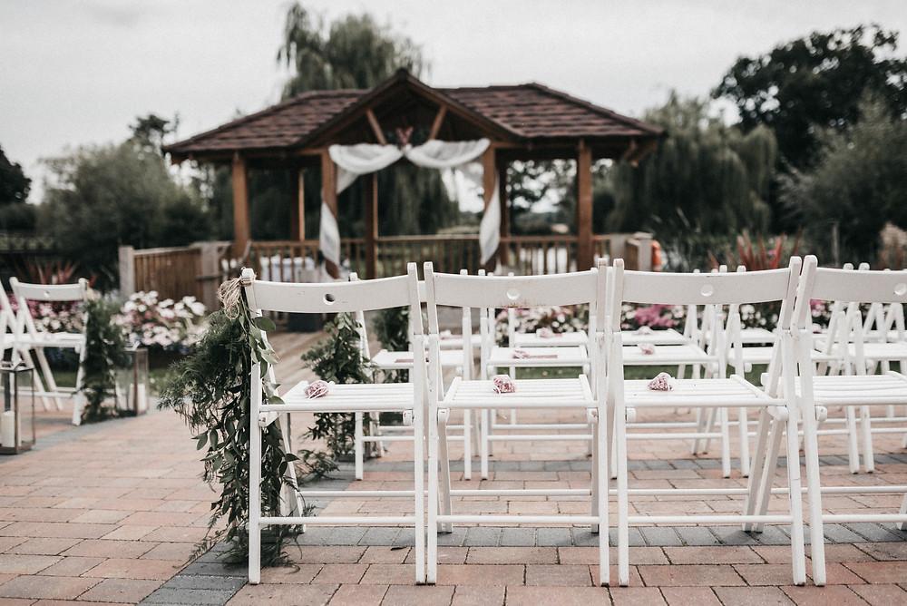 Wootton Park, outdoor wedding ceremony