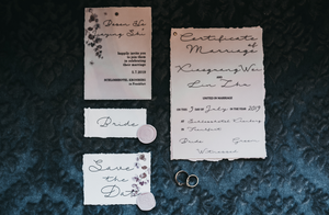 Wedding stationary - wedding at schloss hotel kronberg