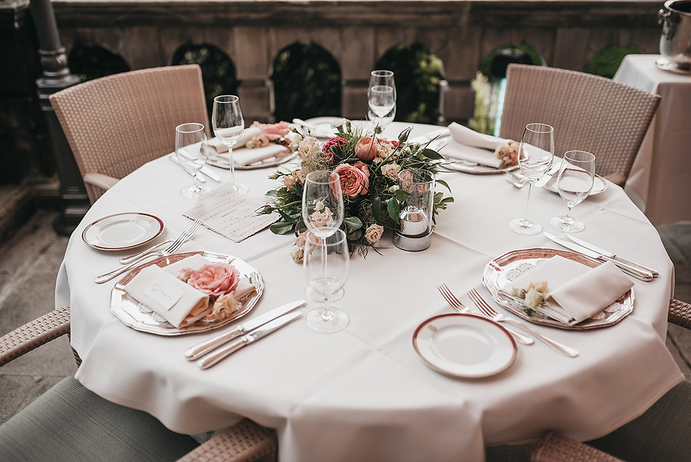 Wedding reception at Schlosshotel Kronberg, Germany