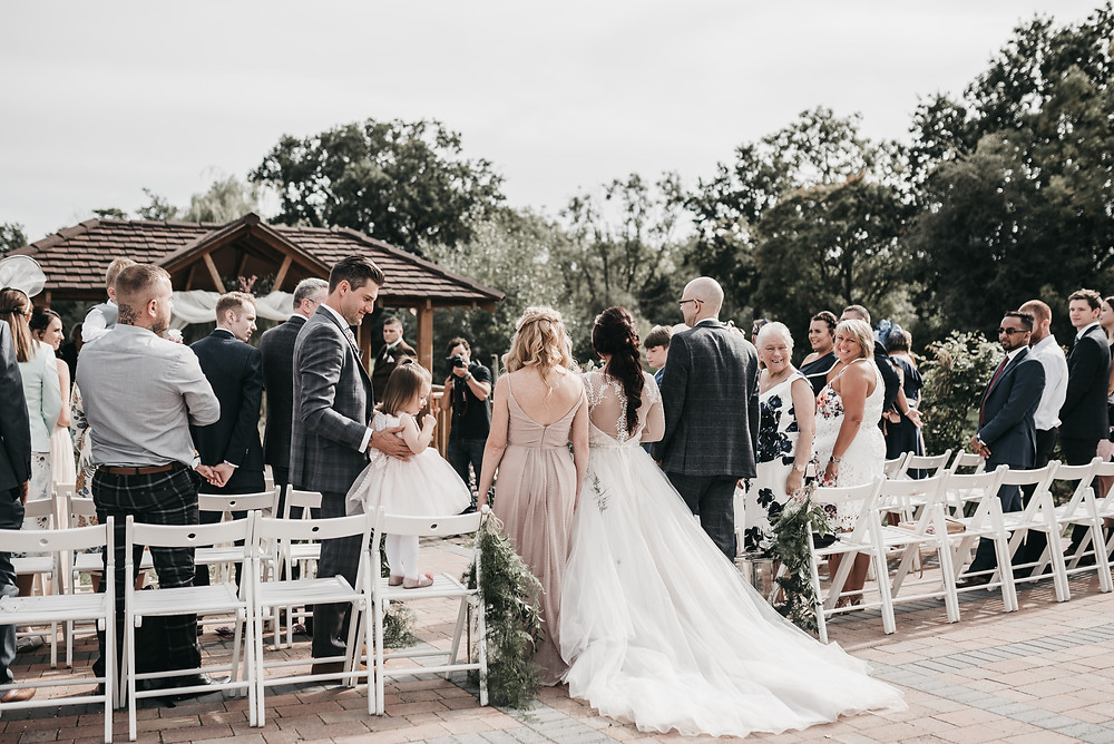 Outdoor wedding ceremony Wootton Park Wedding Photography