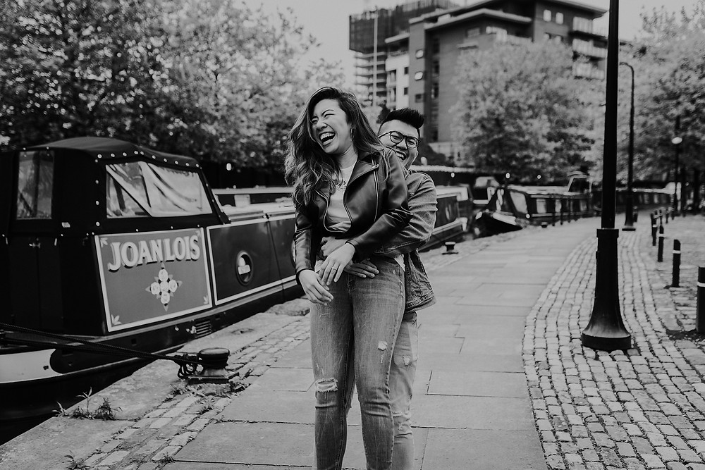 Manchester pre-wedding session in Castlefield