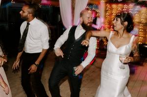 bride and groom woodland wedding england