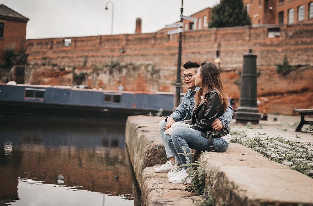 Castlefield engagement session couple photography