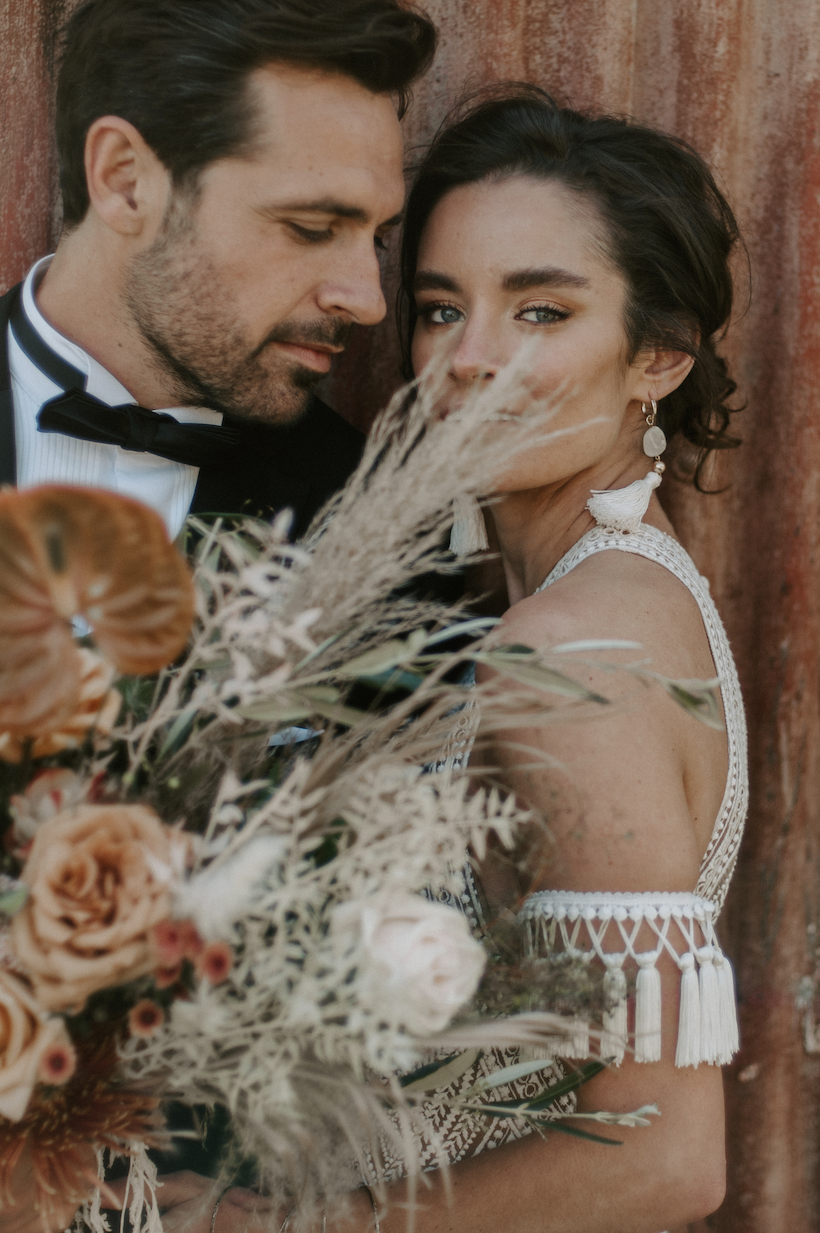 Editorial wedding boho photography in UK best wedding venues outdoor