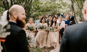 wedding in woodland near london