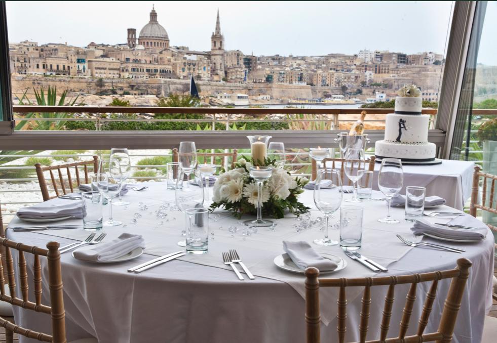 wedding with a valletta view - malta wedding photographer