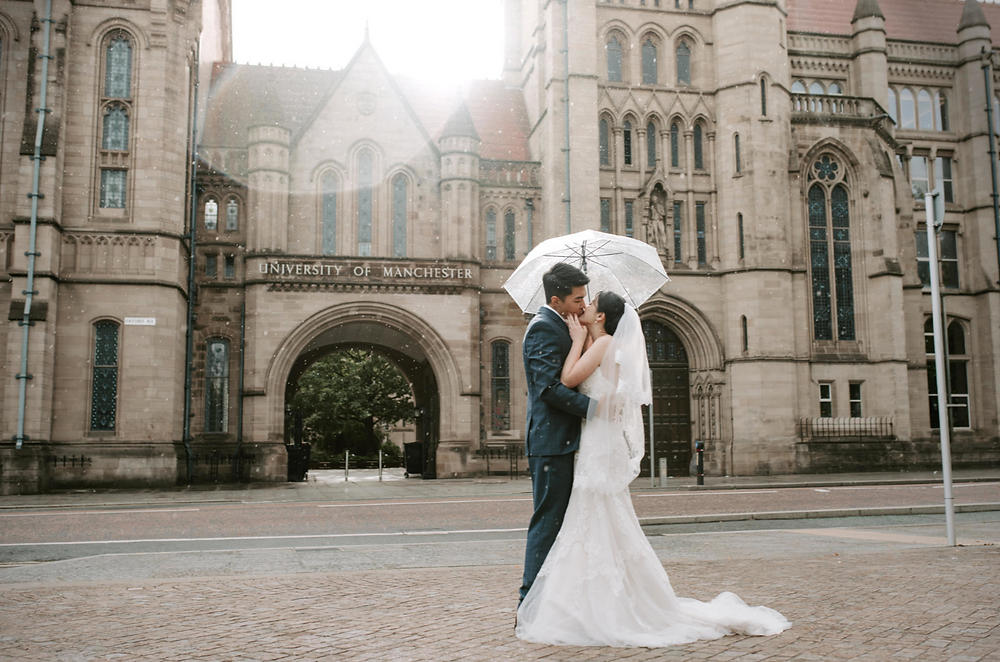Manchester University wedding photography session