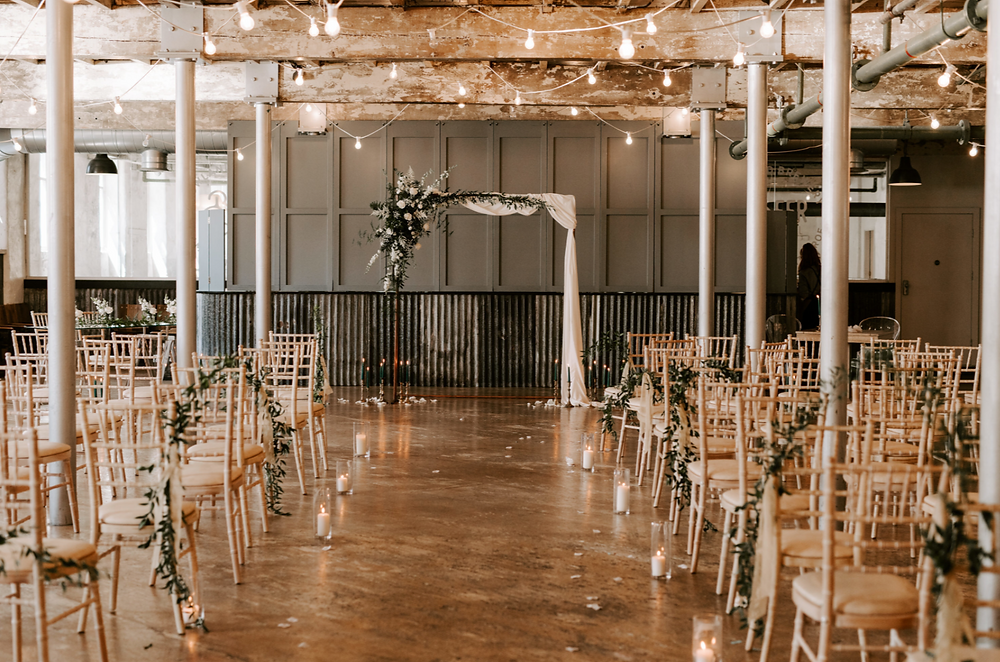 wedding ceremony at holmes mill in lancashire