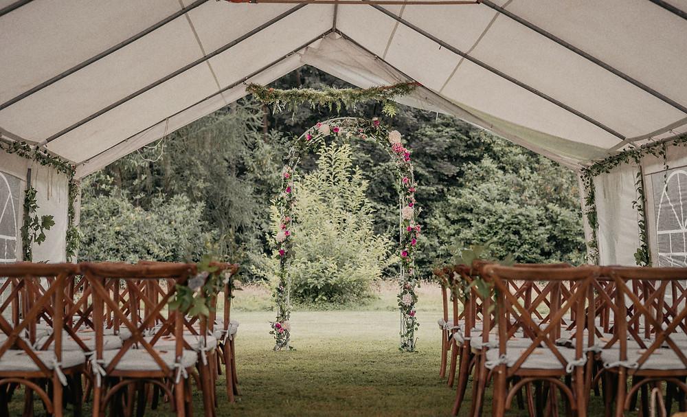 Outdoor wedding venue in Cheshire