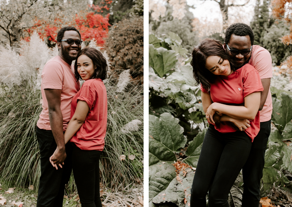 fletcher moss botanical garden engagement photography