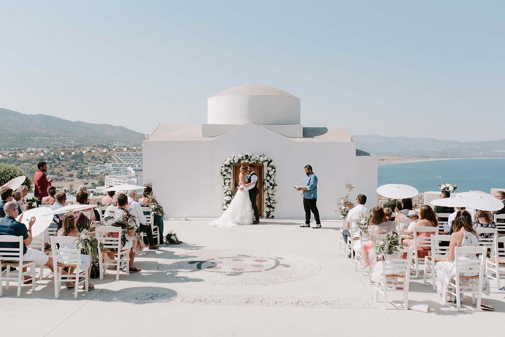wedding at Ktima Lindos - Rhodes wedding venue