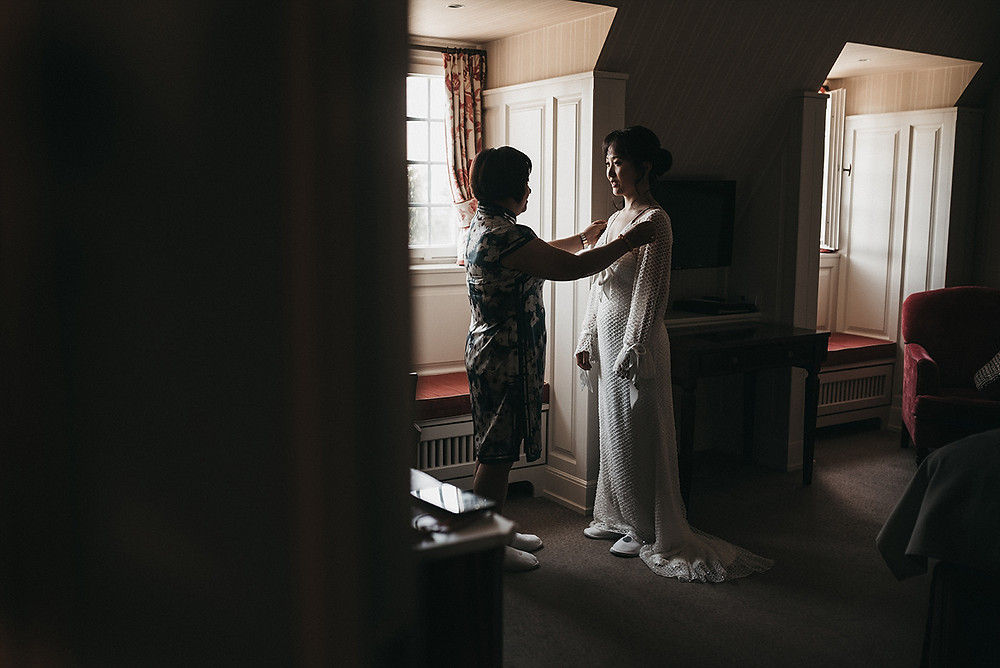 bridal preparations before wedding ceremony