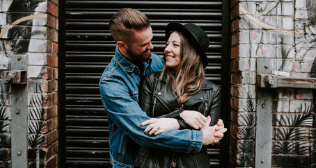Urban Northern Quarter Manchester Engagement Session | Pre-wedding Photoshoot Photography UK