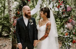 wedding photography in london woodland