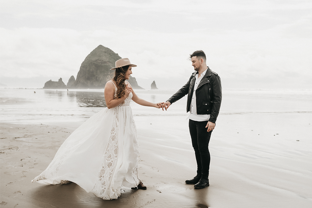 beautiful boho wedding gown - rish bridal - elopement wedding