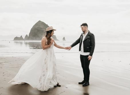 Elopement Beach Wedding Photosession | Natural Wedding Photography Manchester