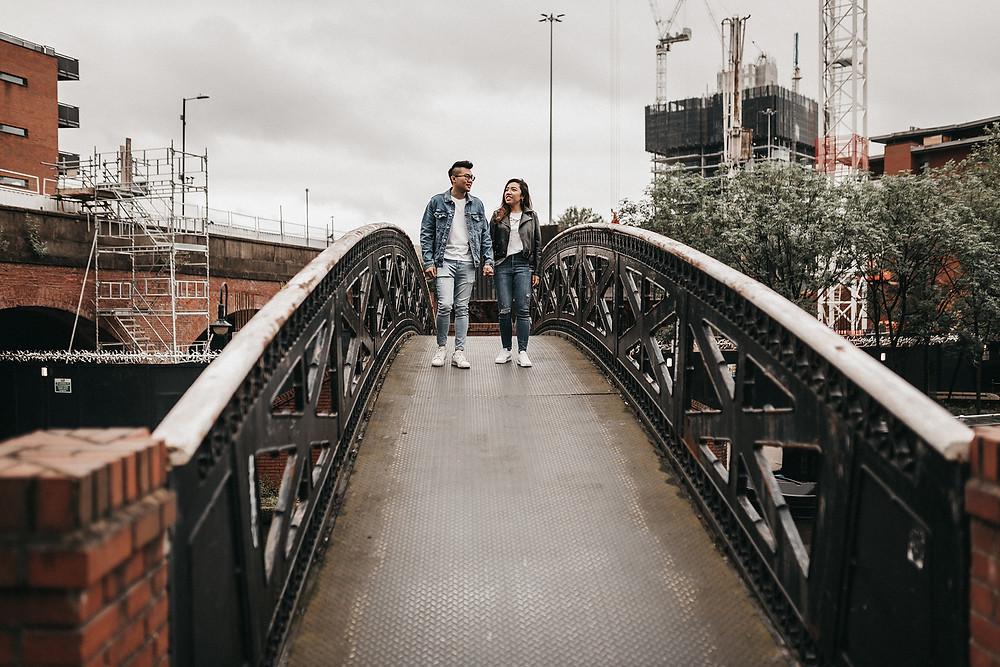 Pre-wedding photos in Manchester City Centre