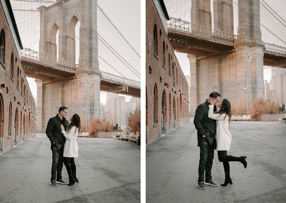 engagement session in brooklyn, dumbo, new york