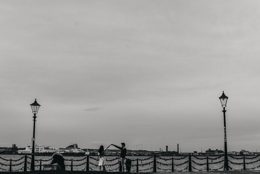 engagement photography in liverpool, albert dock