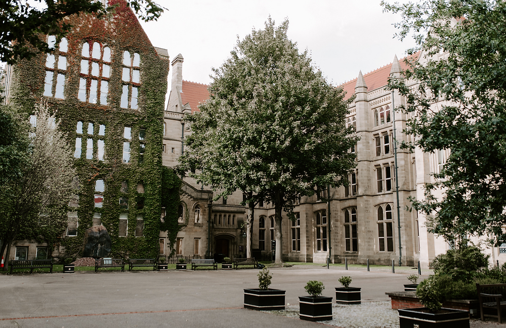 Pre-wedding photography at Manchester University