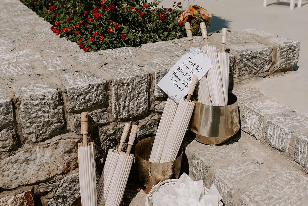 summer wedding at Ktima Lindos, Greece, Rhodes