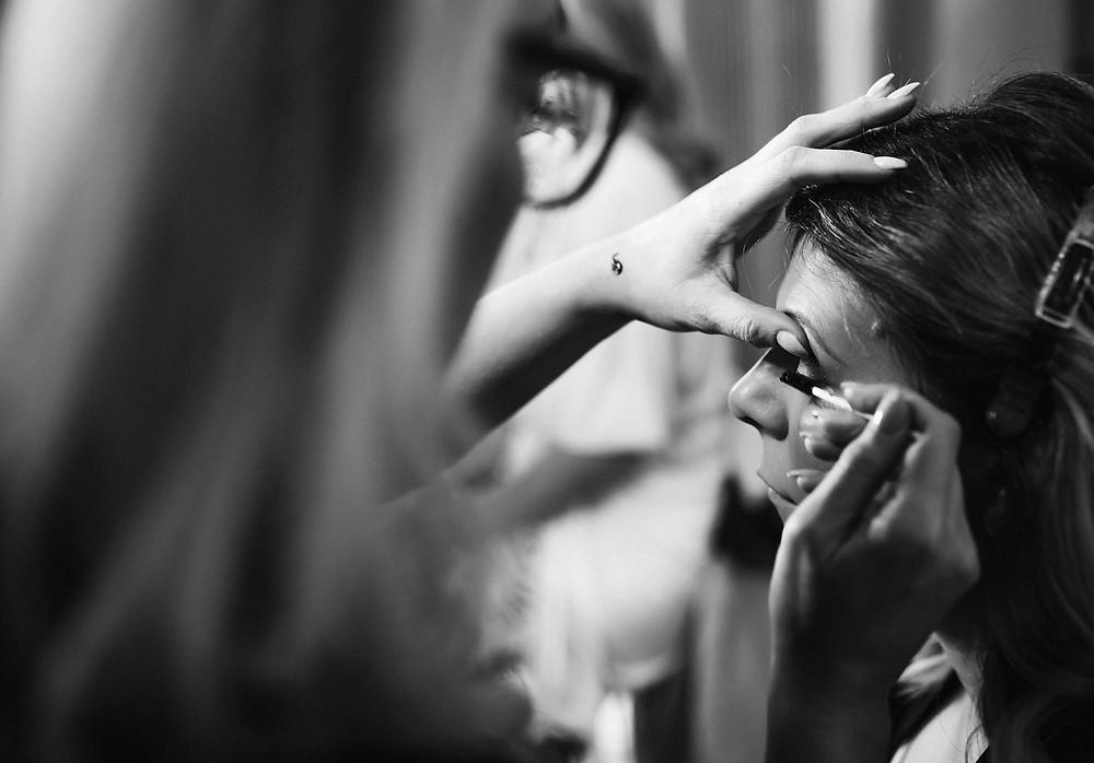 nala and knot wedding make up mitton hall photography
