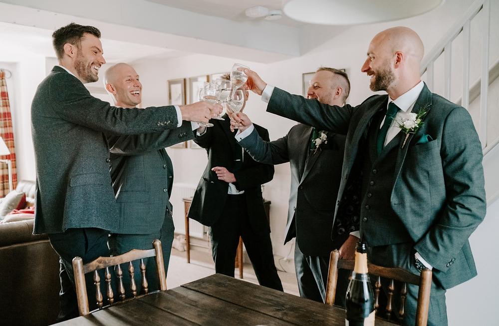 holmes mill | groom and groomsmen