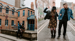 Pre-wedding session Manchester Castlefield Northern Quarter