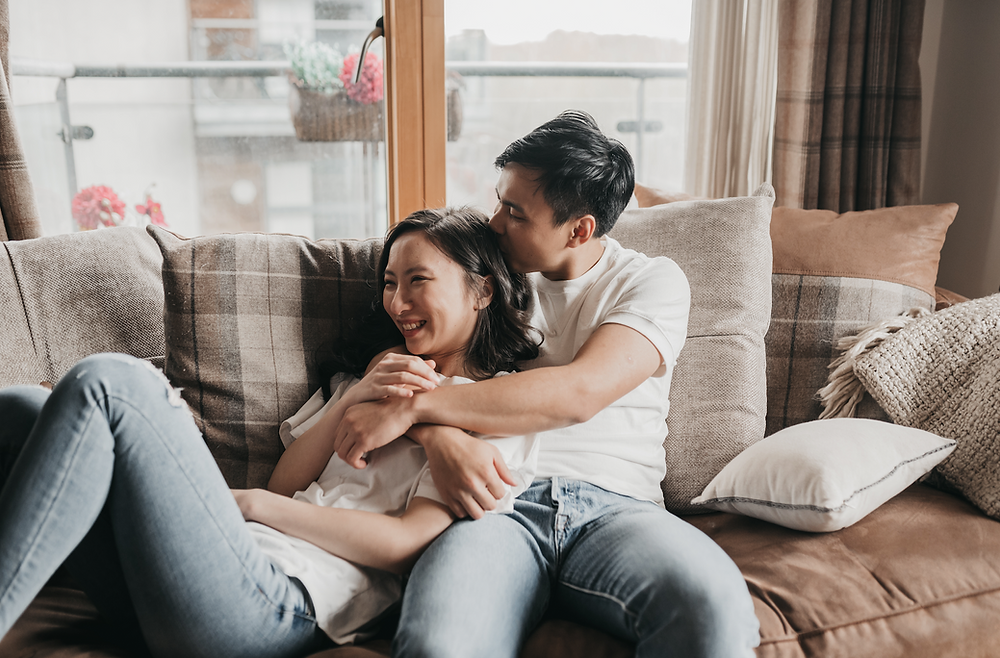 home - airbnb couple photography session in manchester - best engagement photographer