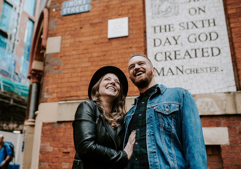 Lancashire wedding photography cool engagement session and pre-wedding photos in Manchester