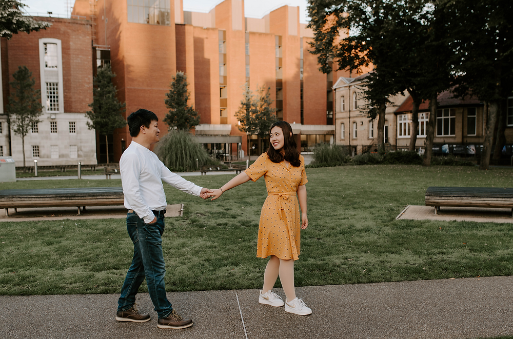 Pre-wedding photography in Manchester University