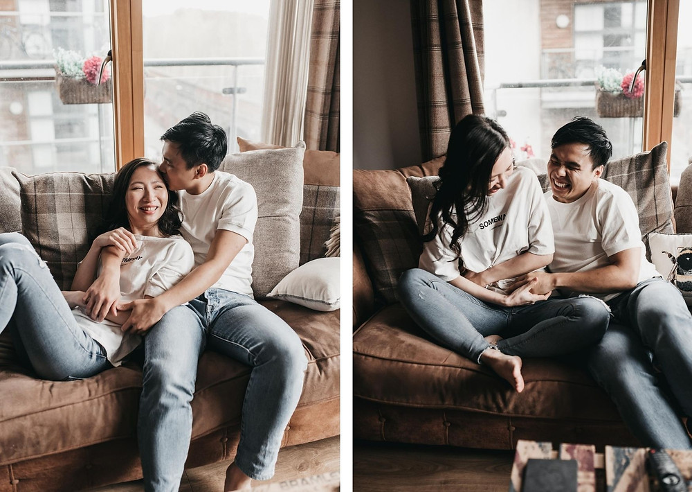 manchester airbnb couple photography - engagement session old trafford , manchester photographer