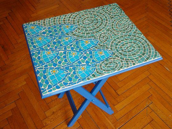 Fishes / Balıklı Mozaik Sehpa