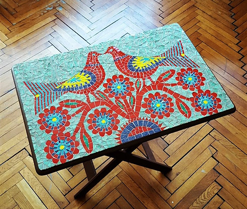 Bird/Kuş Mozaik Sehpa