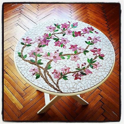 Cherry Blossom/Kiraz Ağacı Mozaik Sehpa