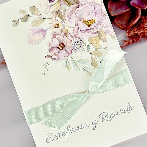 Invitación Flores y Lazo 39721