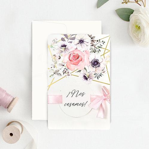 Invitación Rosa 39723