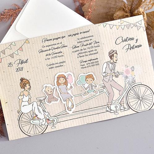Invitación Novios en Bicicleta 39714