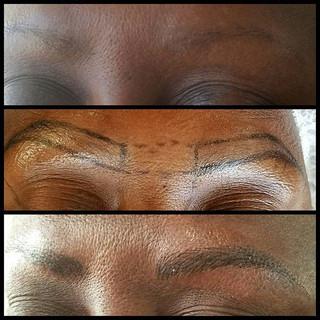 No brows, Sparse brows_ No problem.  Cre