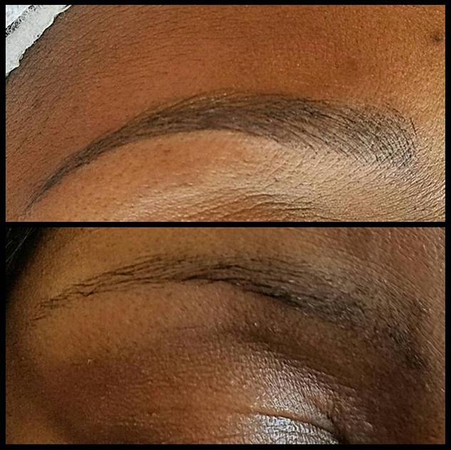 This client was getting brow tint every