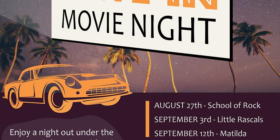 Drive-In Movie Night FUNDRAISER