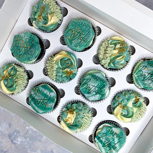 Happy Birthday Cupcakes (Box of 12)