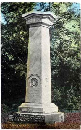 Cemetery monument, Cheraw, SC, 1867