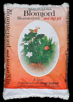 Blomjord med lågt pH 8 liter