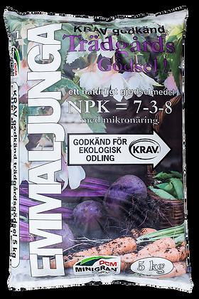 Trädgårdsgödsel KRAV Minigranulat 5 kilo