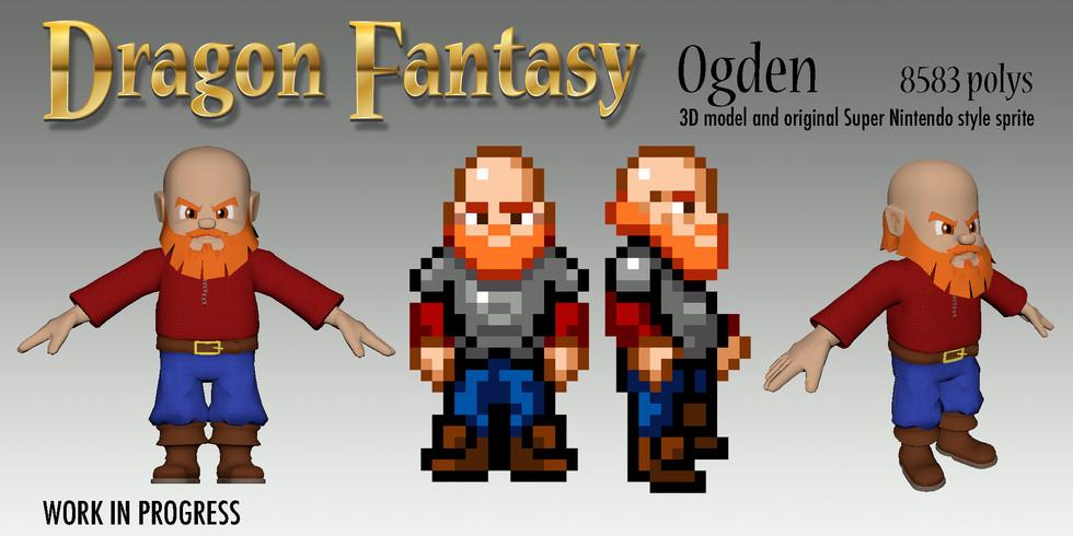 Ogden! From 16bit sprite to 3D!