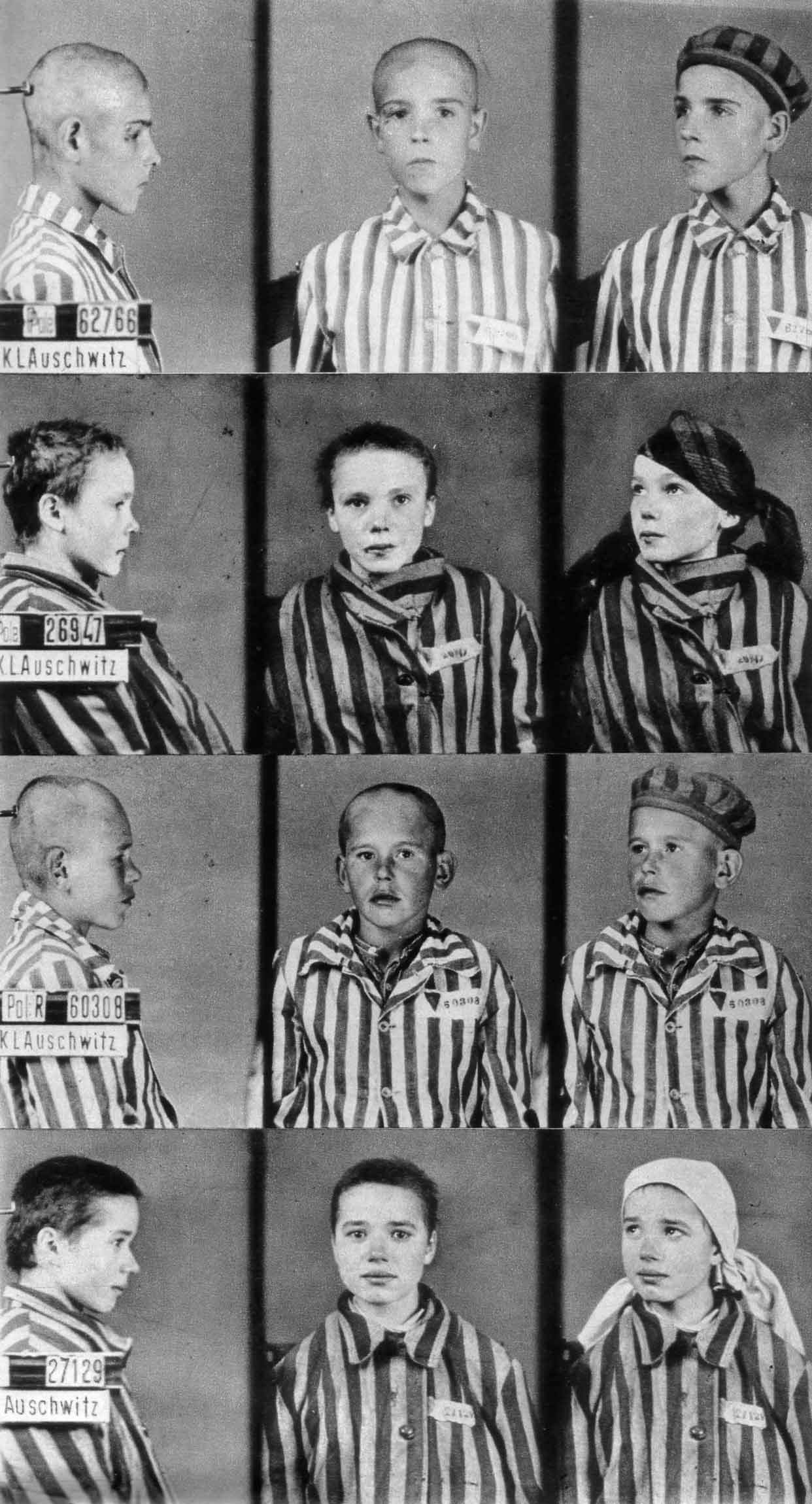 1940's - Four Auschwitz Concentration Camp child prisoners