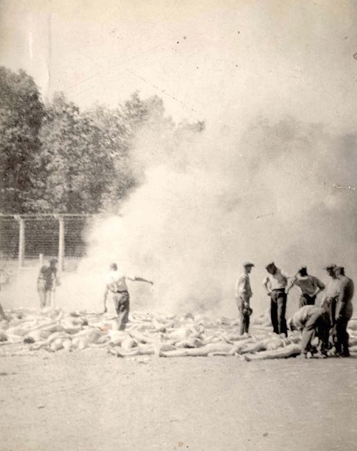 Cremation of bodies by the Sonderkommando, Summer 1944