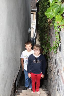 Petite venelle dans le quartier du courtgain visite guidée du quartier des marins saint-valery-sur-s