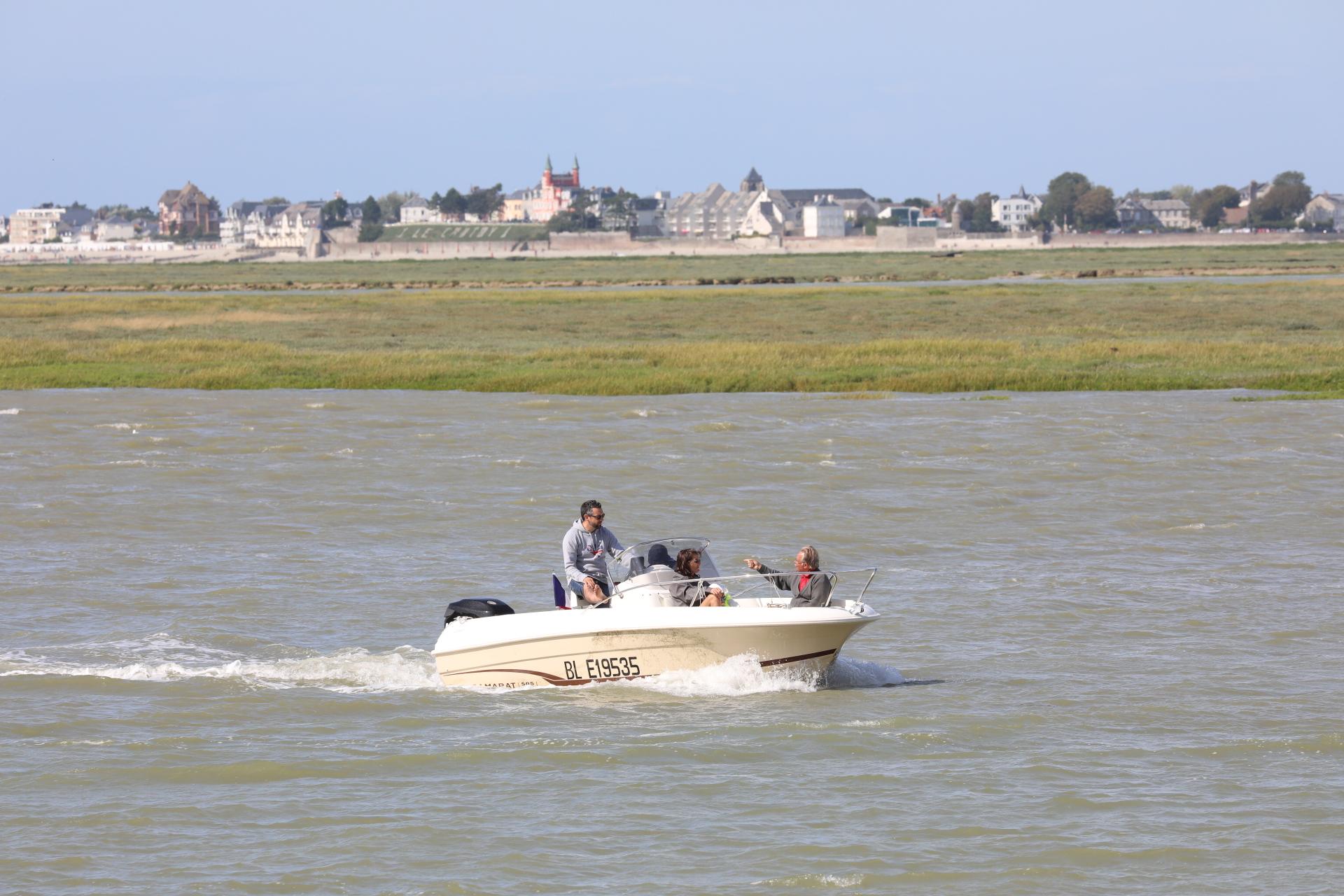 Vue sur Le Crotoy visite guidée quartier des marins saint valery sur somme en baie de somme